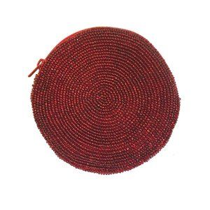 Neiman Marcus Vintage Red Coin Purse Round Circle